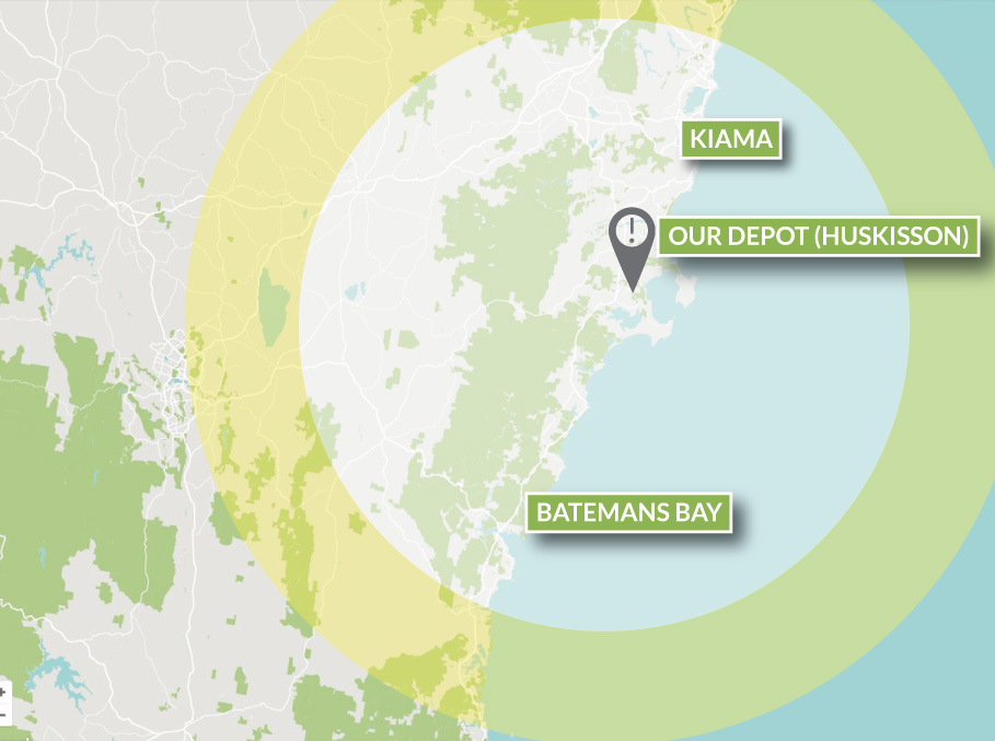 Contact Coast Wide map of areas servicable