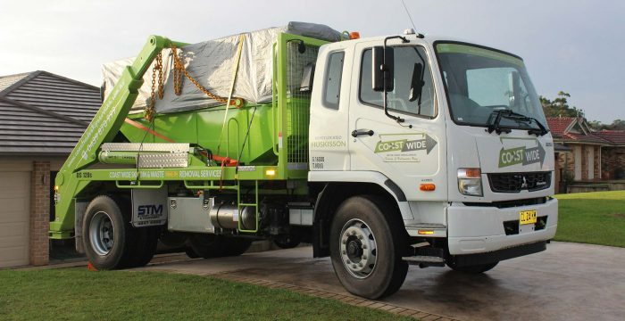 Coast Wide Skip Services Truck